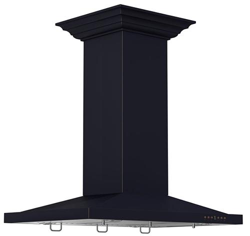 black island range hood