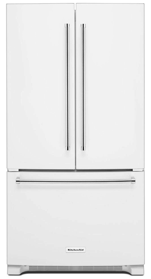 white kitchenaid counter depth fridge