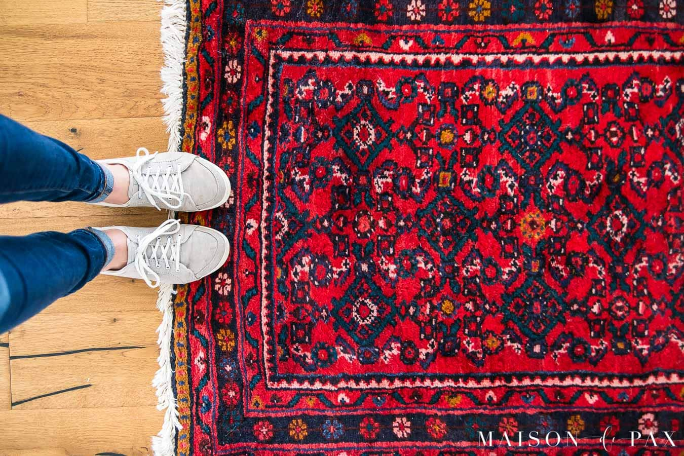 red vintage persian rug runner | maison de pax