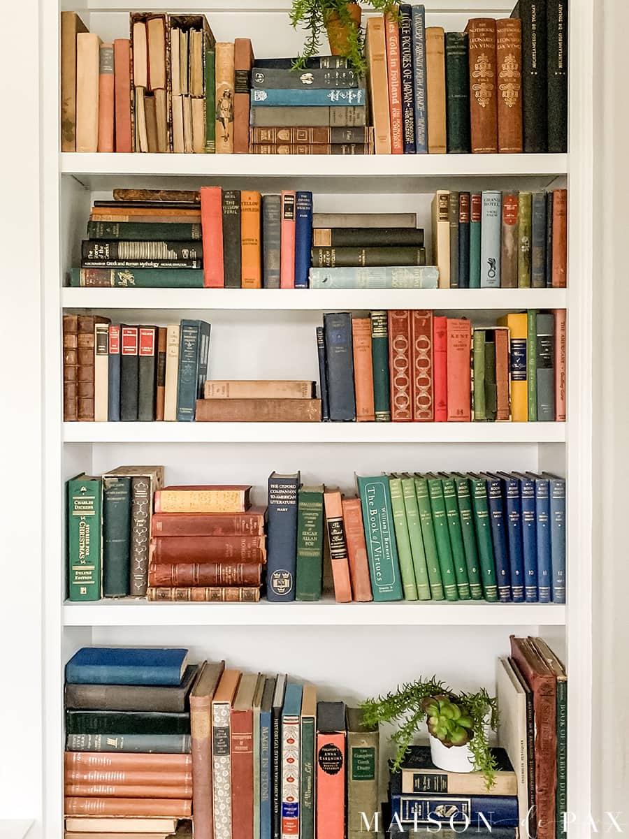 image of bookcase taken on iphone | Maison de Pax