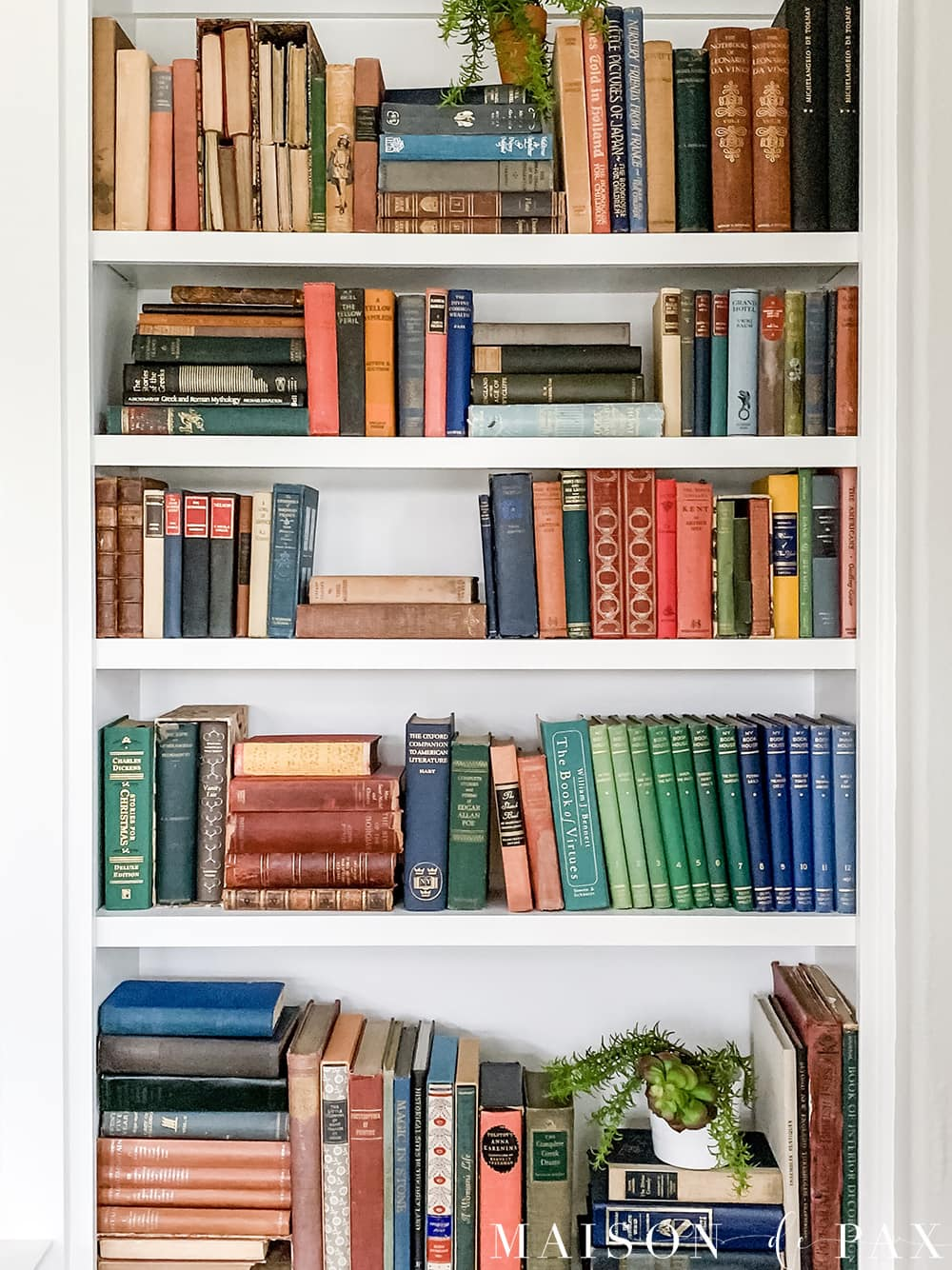 image of bookcase taken on iphone | Maison de Pax