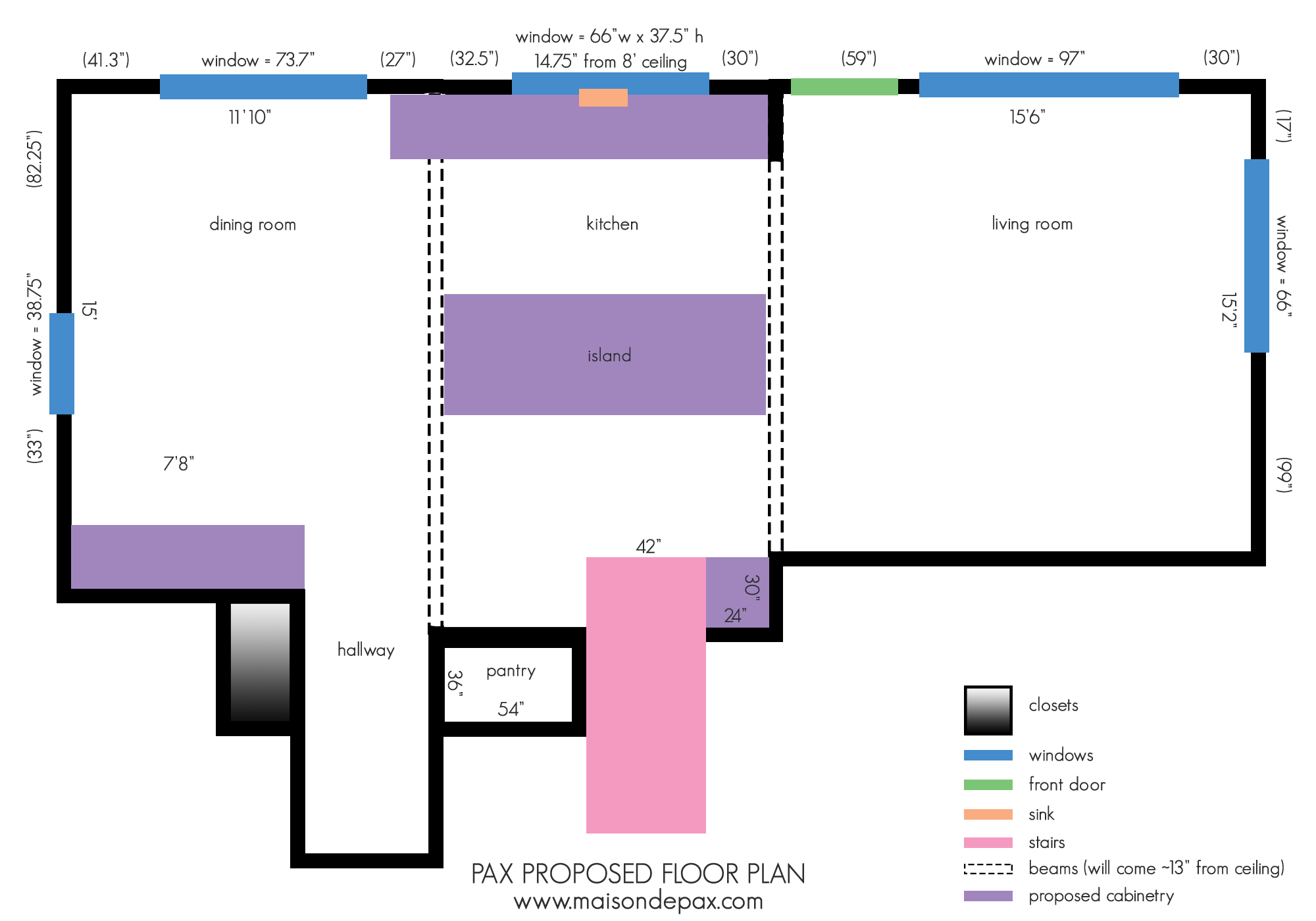 proposed floor plans for ranch kitchen renovation | Maison de Pax