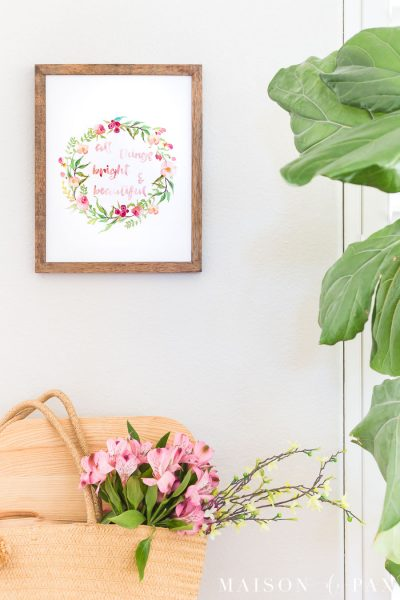 watercolor floral wall art free printable | Maison de Pax