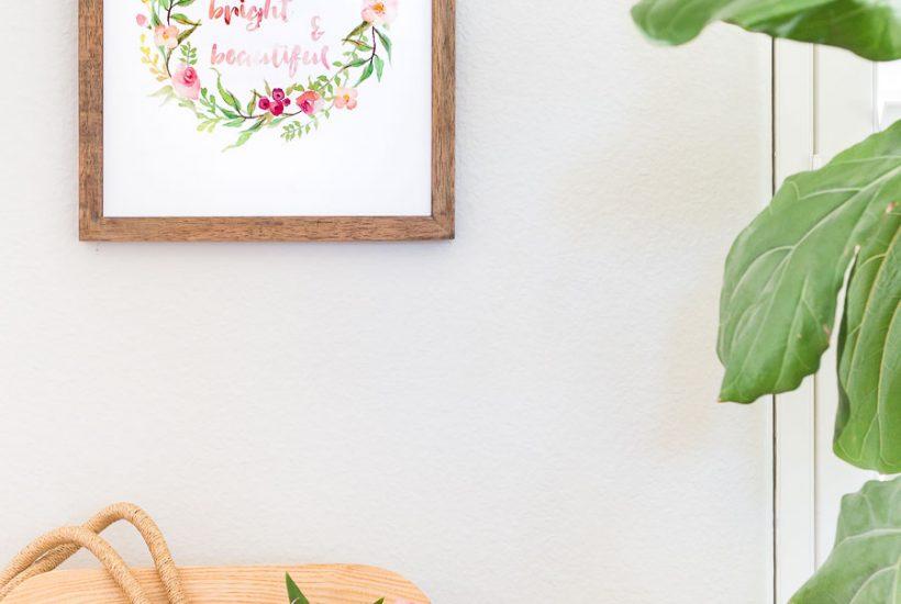 watercolor floral wall art free printable | Maison de Pax