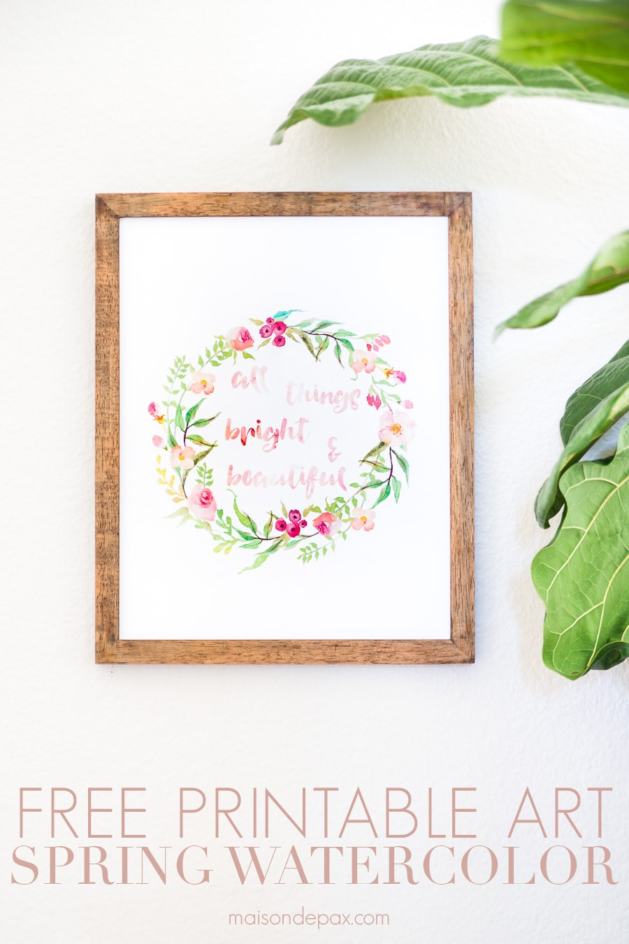printable floral watercolor wall art | Maison de Pax