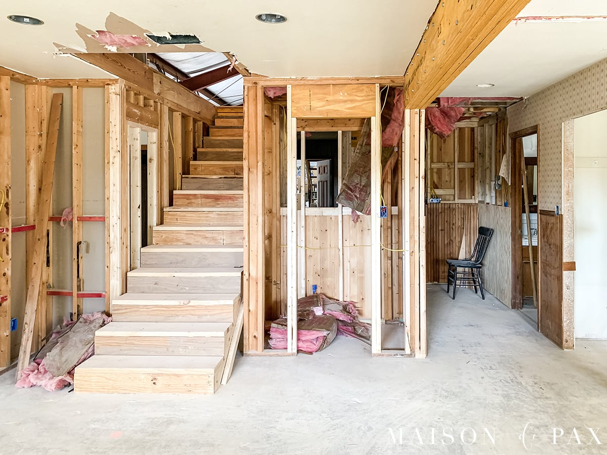 renovation: adding stairs to build out the attic | Maison de Pax