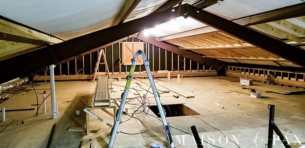 before attic renovation | Maison de Pax