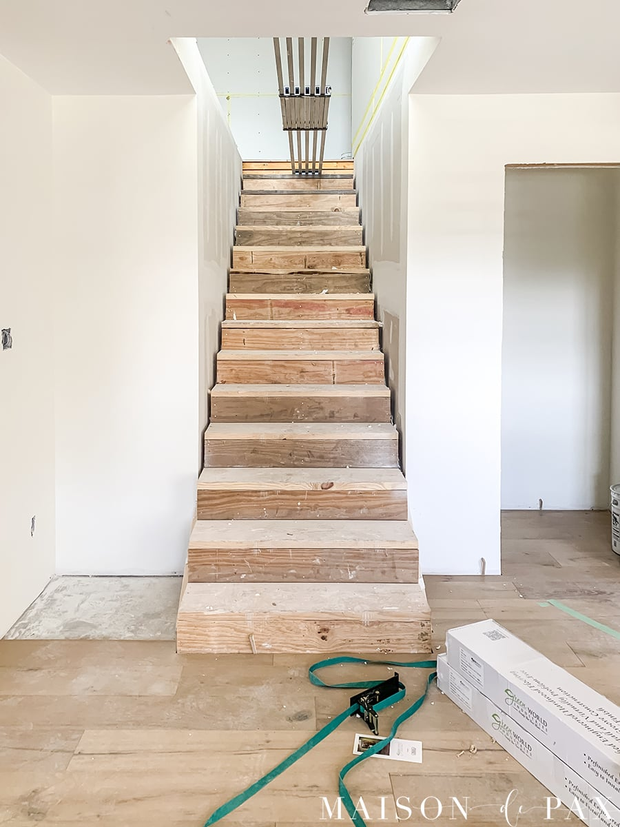 new stairs to finished attic renovation | Maison de Pax