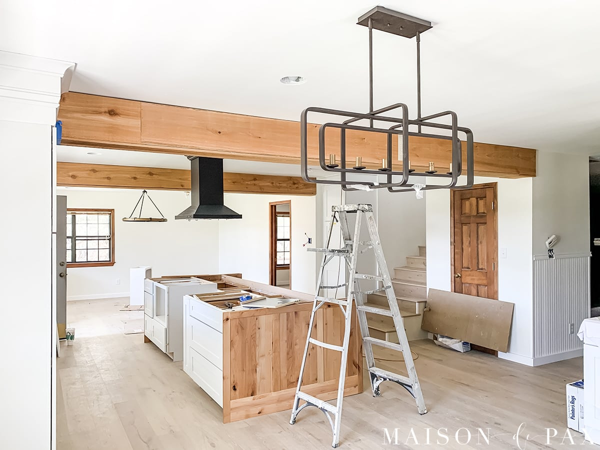 ranch house big island open kitchen renovation | Maison de Pax