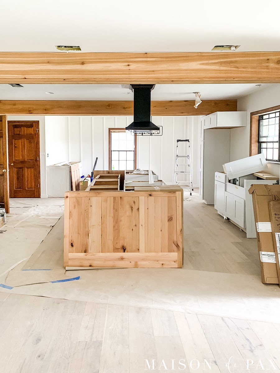 big island kitchen renovation progress | Maison de Pax