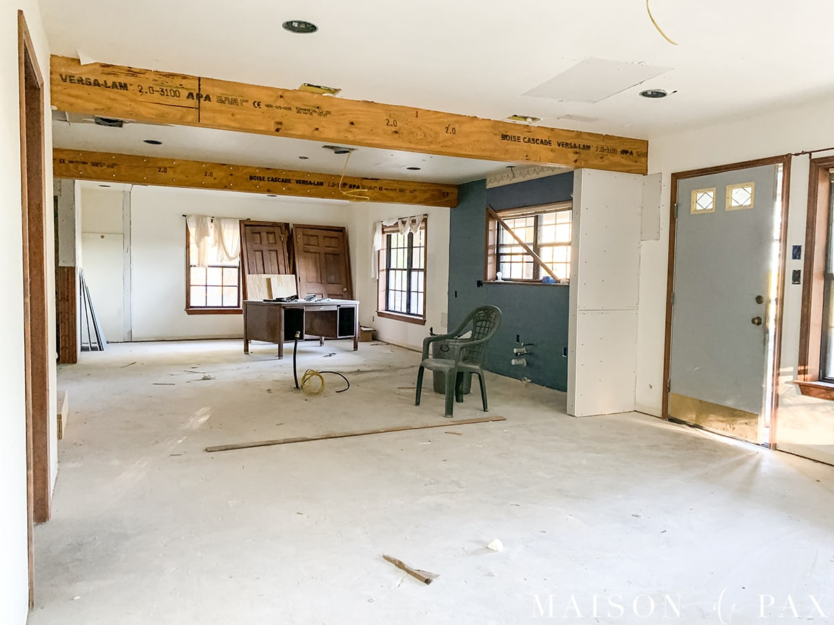 texas farmhouse renovation in process | Maison de Pax
