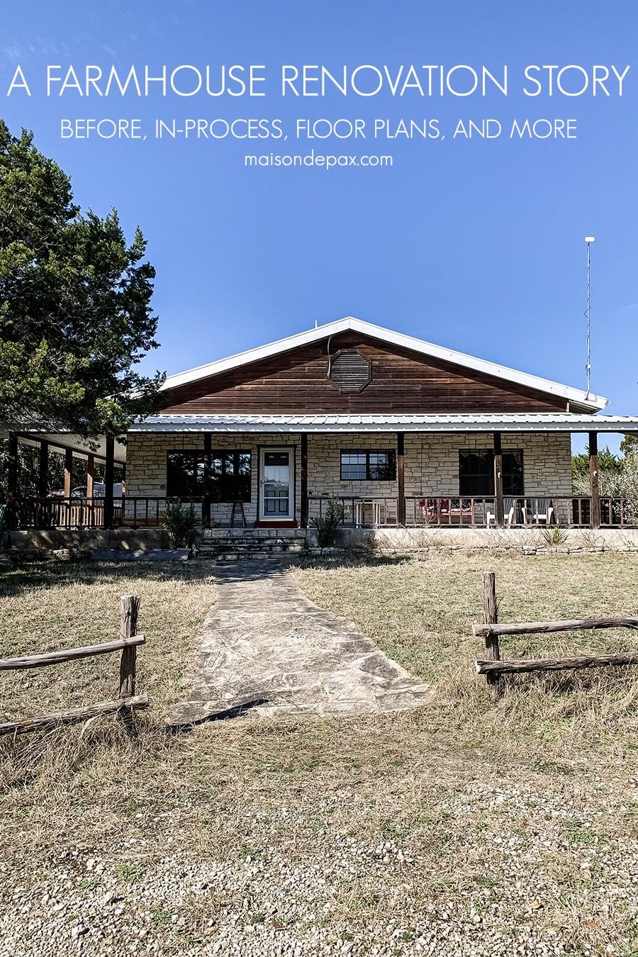 texas ranch house facade and split rail fence   Maison de Pax
