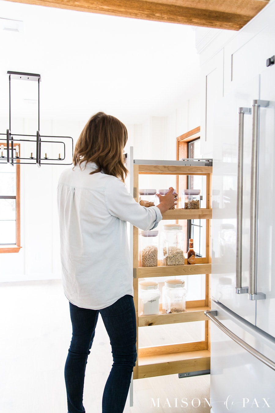 pantry pull out with organizing drawers | Maison de Pax