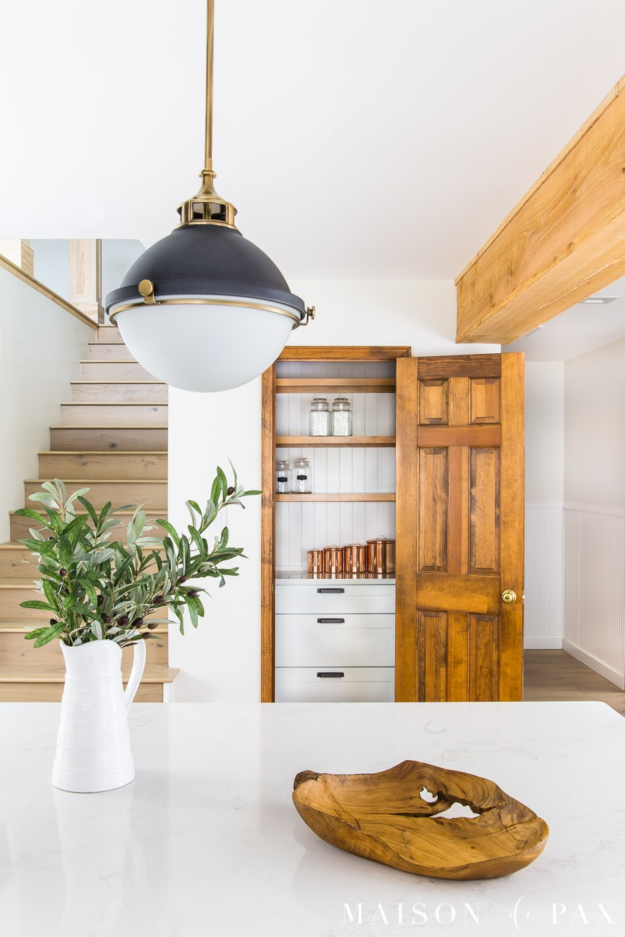 kitchen pantry beside stairs | Maison de Pax