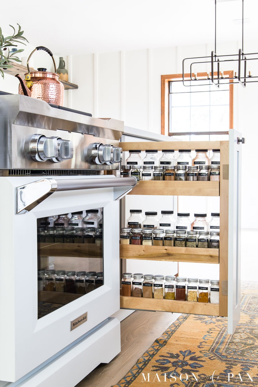 organized spice pull out drawer | Maison de Pax
