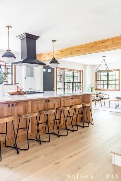 open concept farmhouse kitchen | Maison de Pax