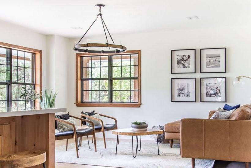 Open concept modern farmhouse kitchen living room | Maison de Pax