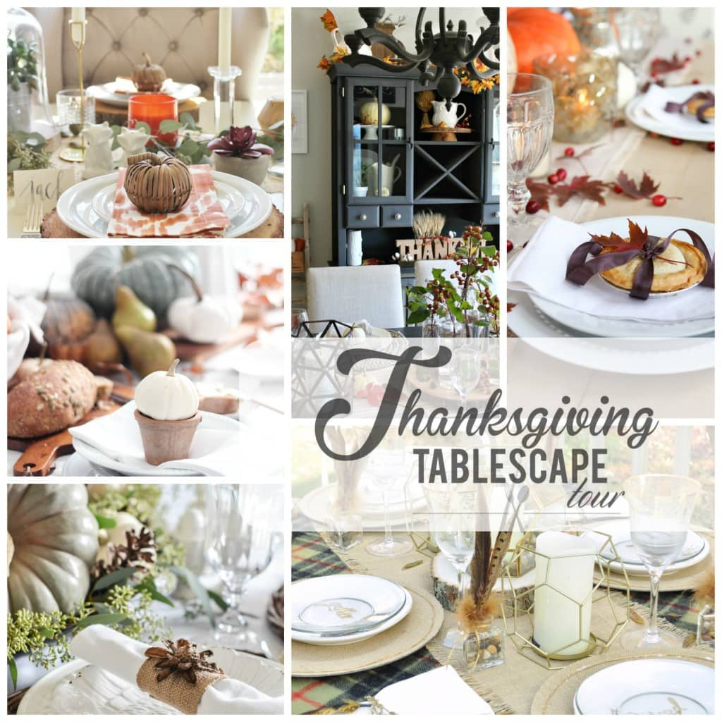 Thanksgiving tablescape tour day 4
