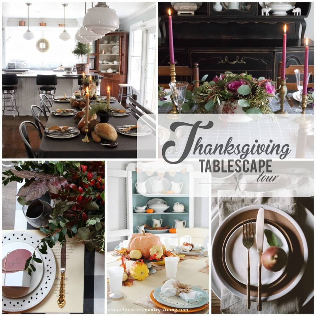 Thanksgiving tablescape tour day 5 collage