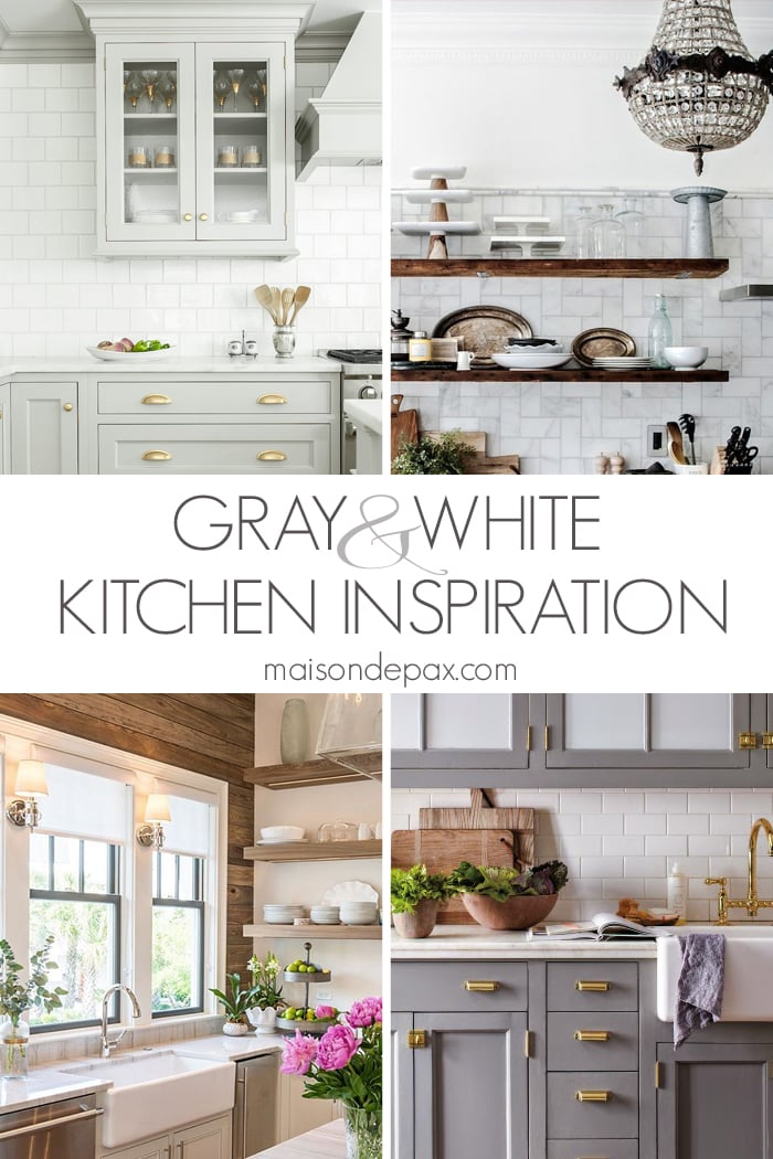 gray and white kitchen design inspiration | Maison de Pax
