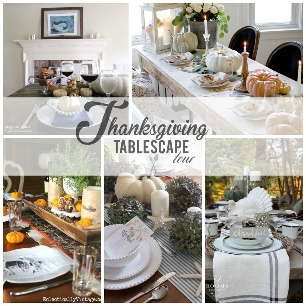 Thanksgiving tablescape tour day 1