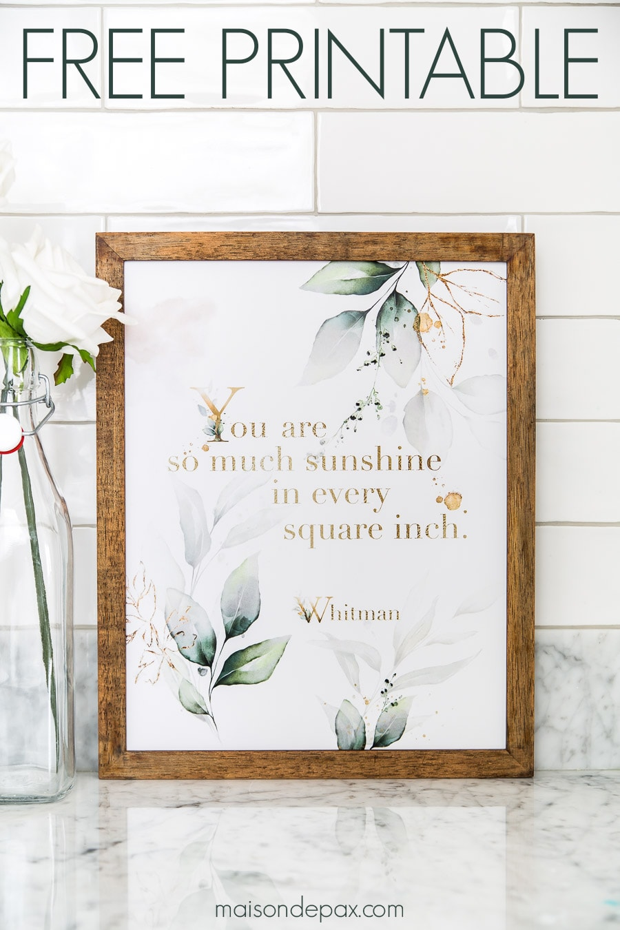 quote art: you are so much sunshine in every square inch | Maison de Pax