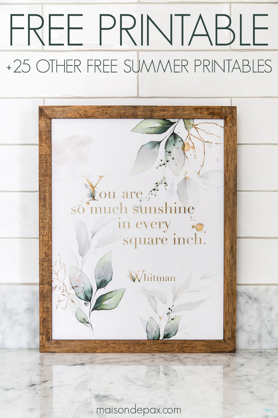 free summer printable wall art | Maison de Pax