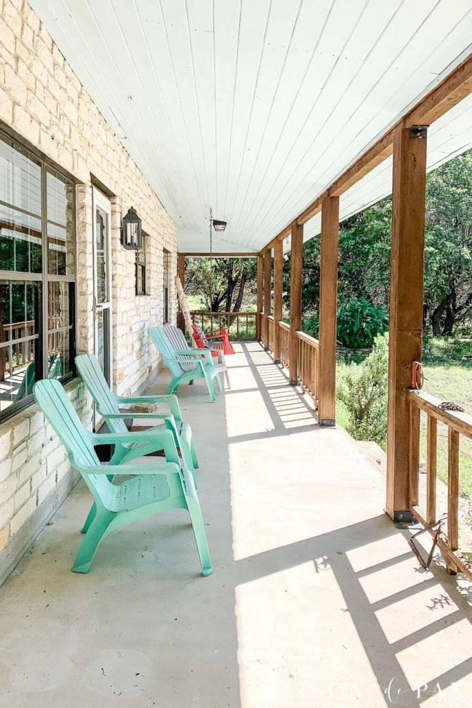 Picture of: Modern Farmhouse Porch Reveal Maison De Pax