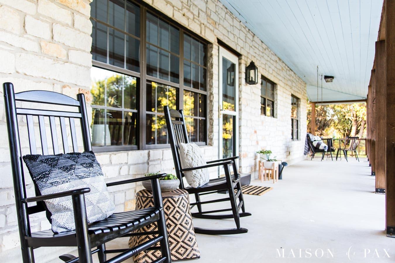 Prime Modern Farmhouse Porch Reveal Maison De Pax Bralicious Painted Fabric Chair Ideas Braliciousco