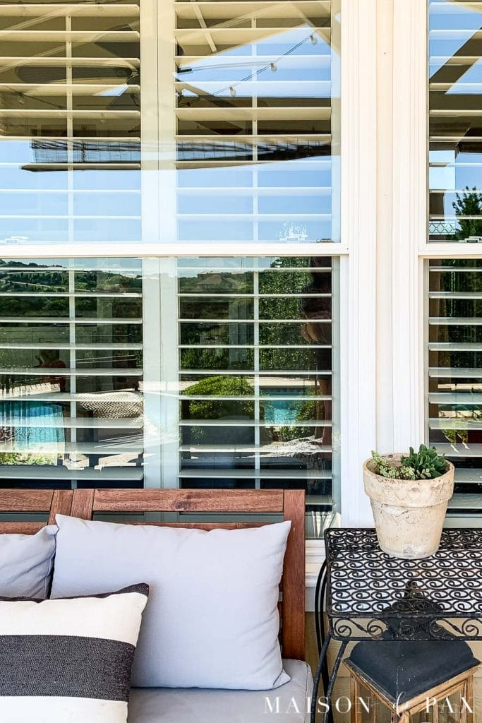 sparkling clean patio windows | Maison de Pax