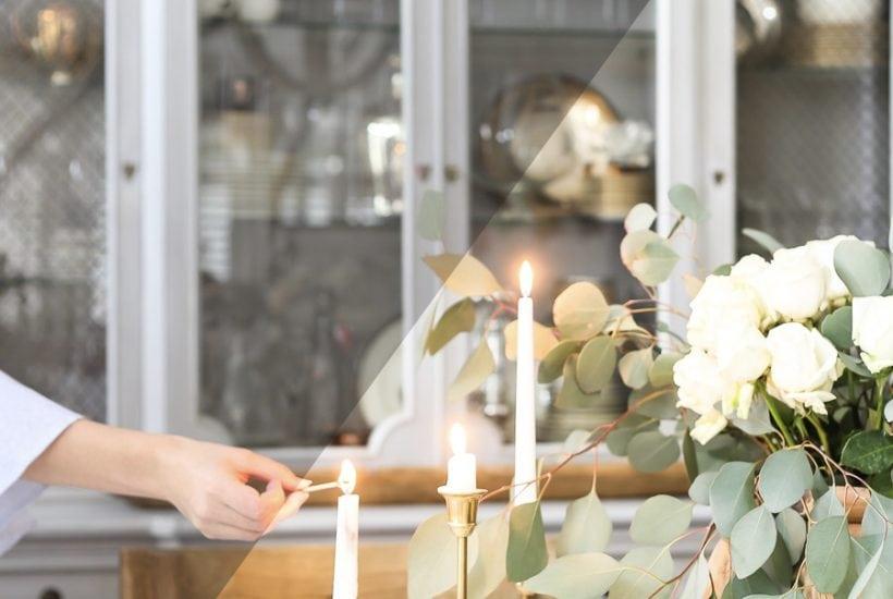 dreamy floral shot before and after Lightroom preset | Maison de Pax