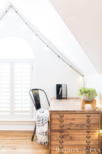 wood desk neatly organized | Maison de Pax
