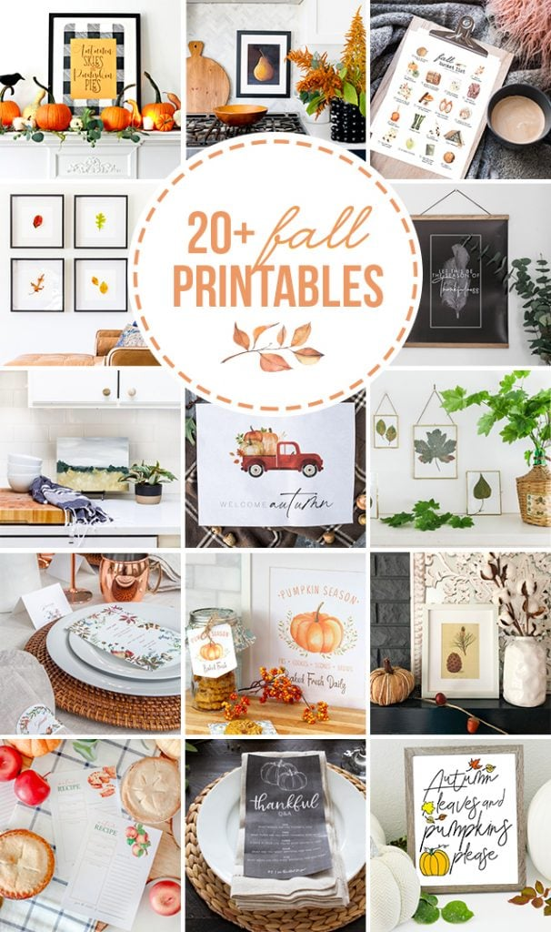 collage of free fall printables | Maison de Pax