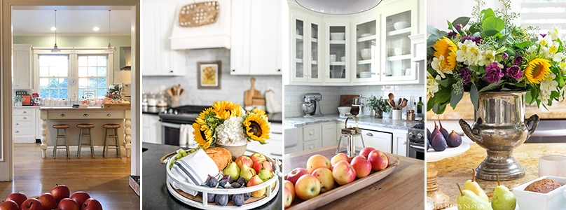 four kitchens tastefully decorated with fall decor