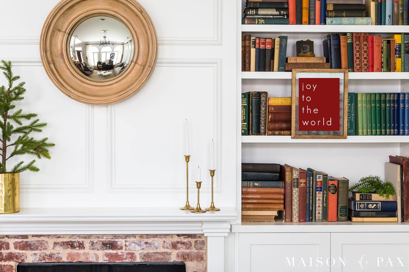 red modern printable with joy to the world   Maison de Pax