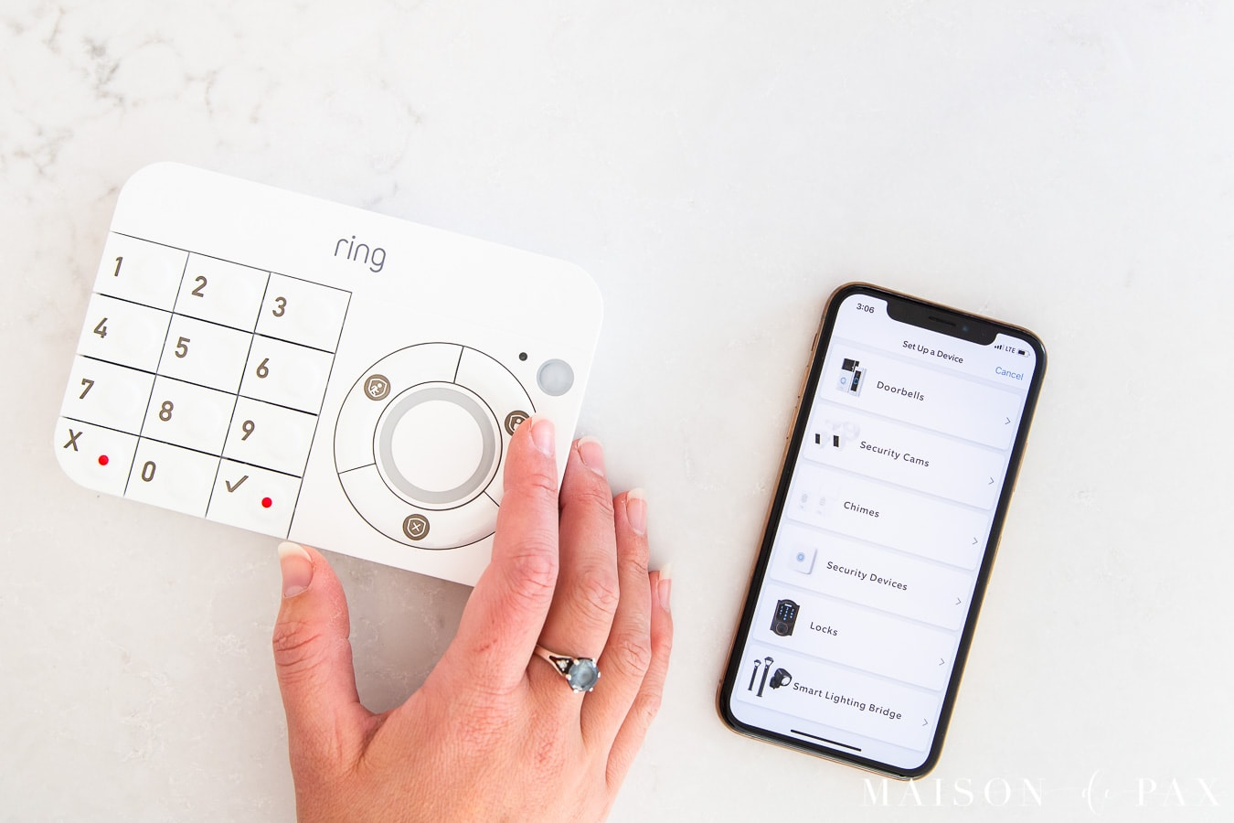 ring security keypad and mobile device app | Maison de Pax
