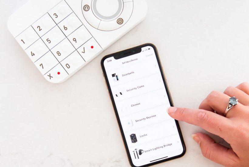 ring keypad and smart phone set up | Maison de Pax