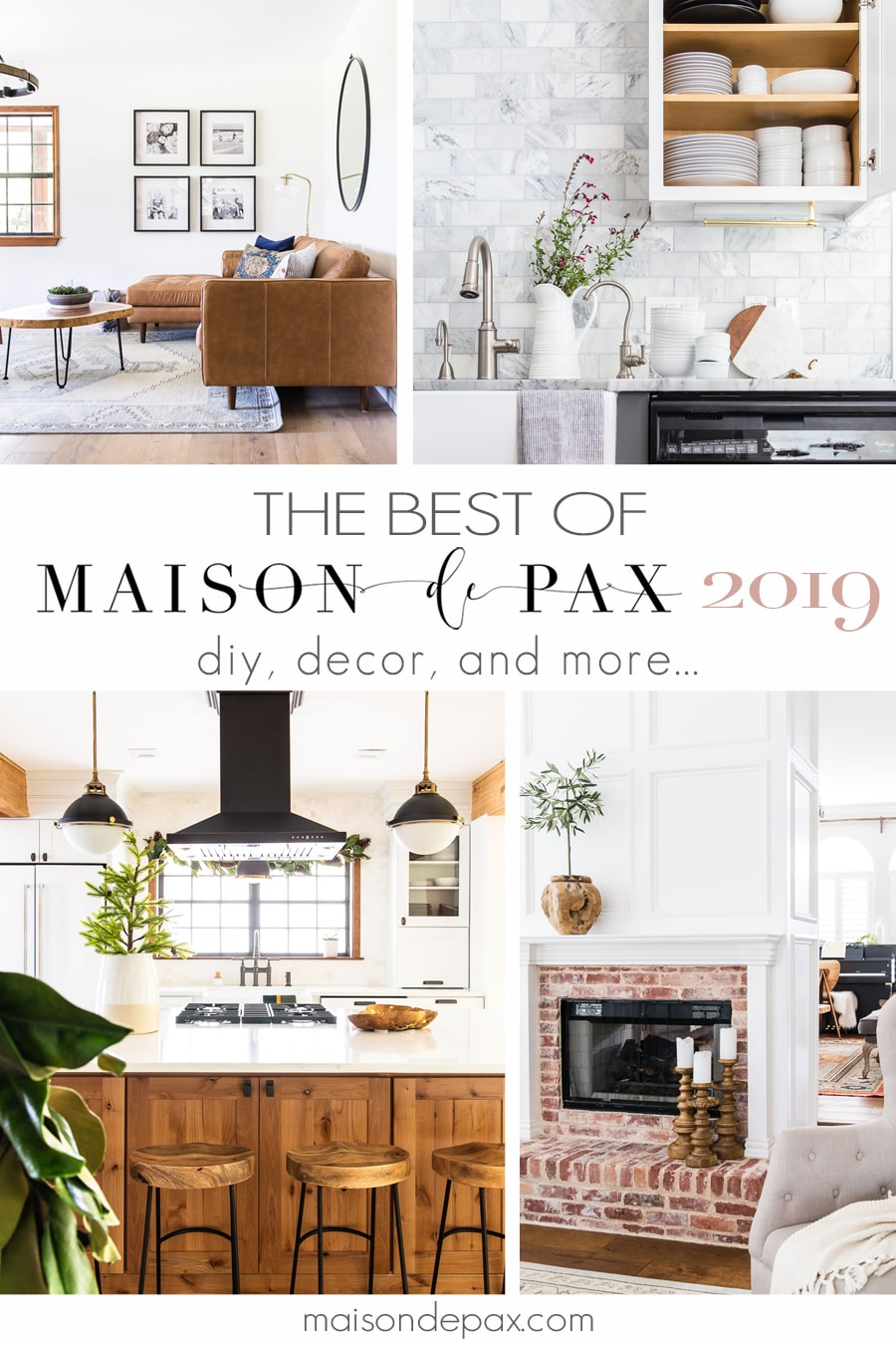 beautifully designed spaces with overlay: The Best of Maison de Pax 2019