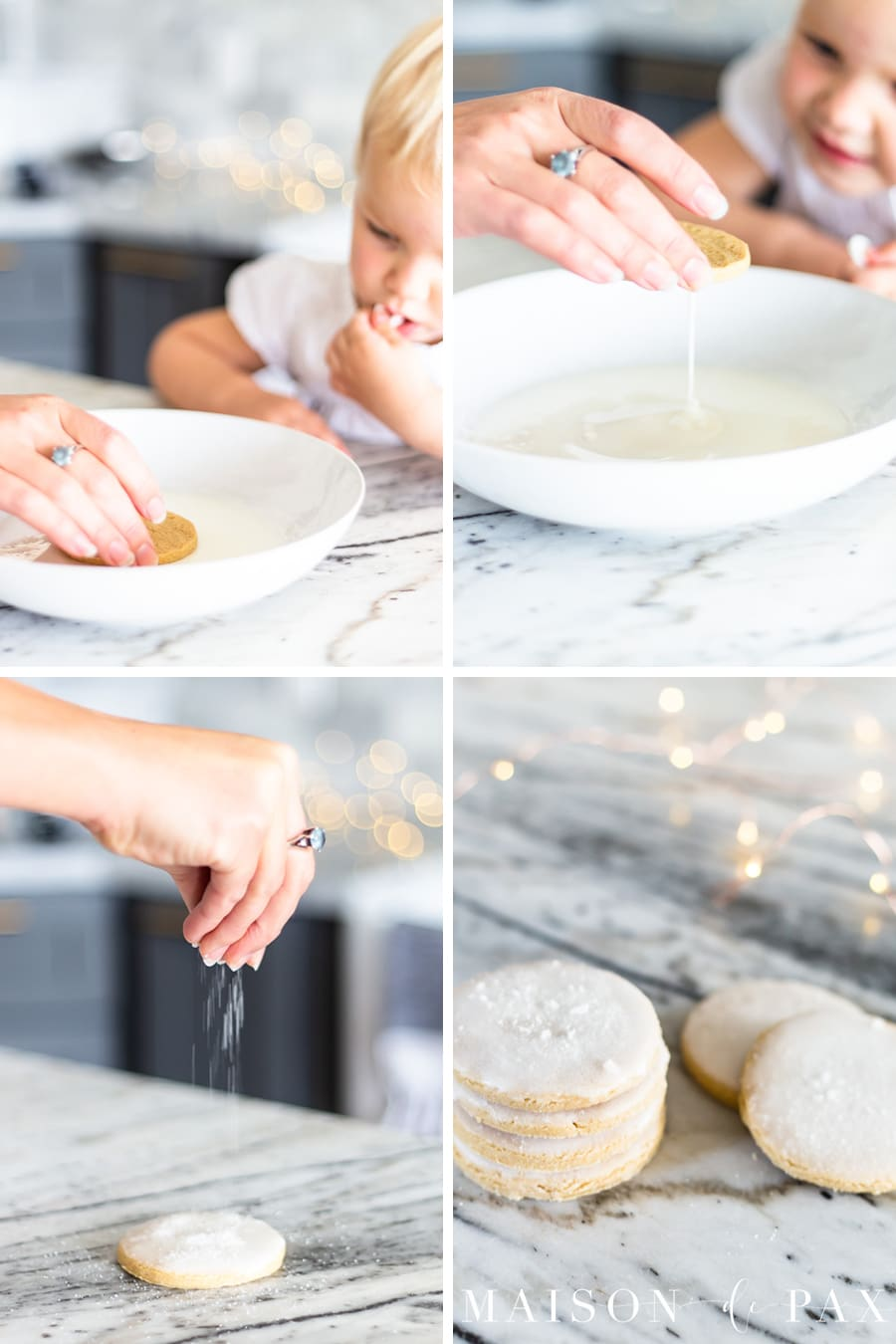 step by step for making icing glaze for sugar cookies | Maison de Pax