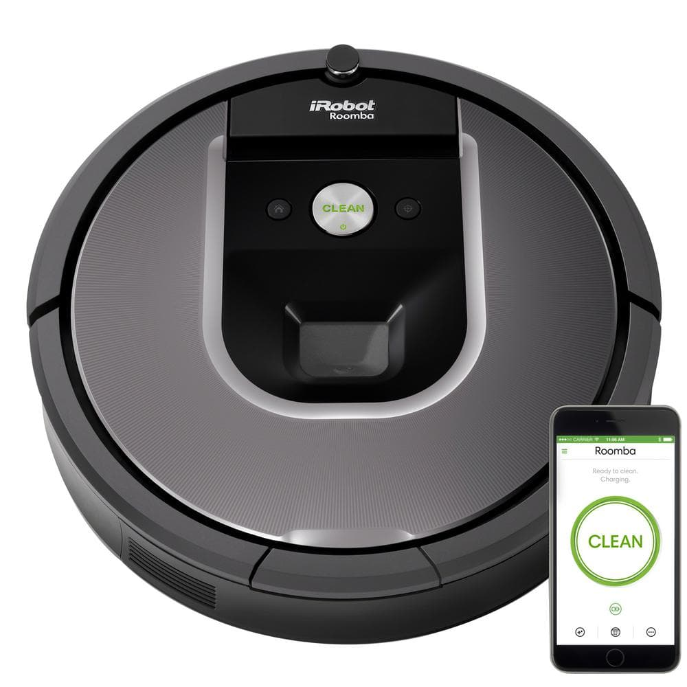 gray robotic vacuum with wifi