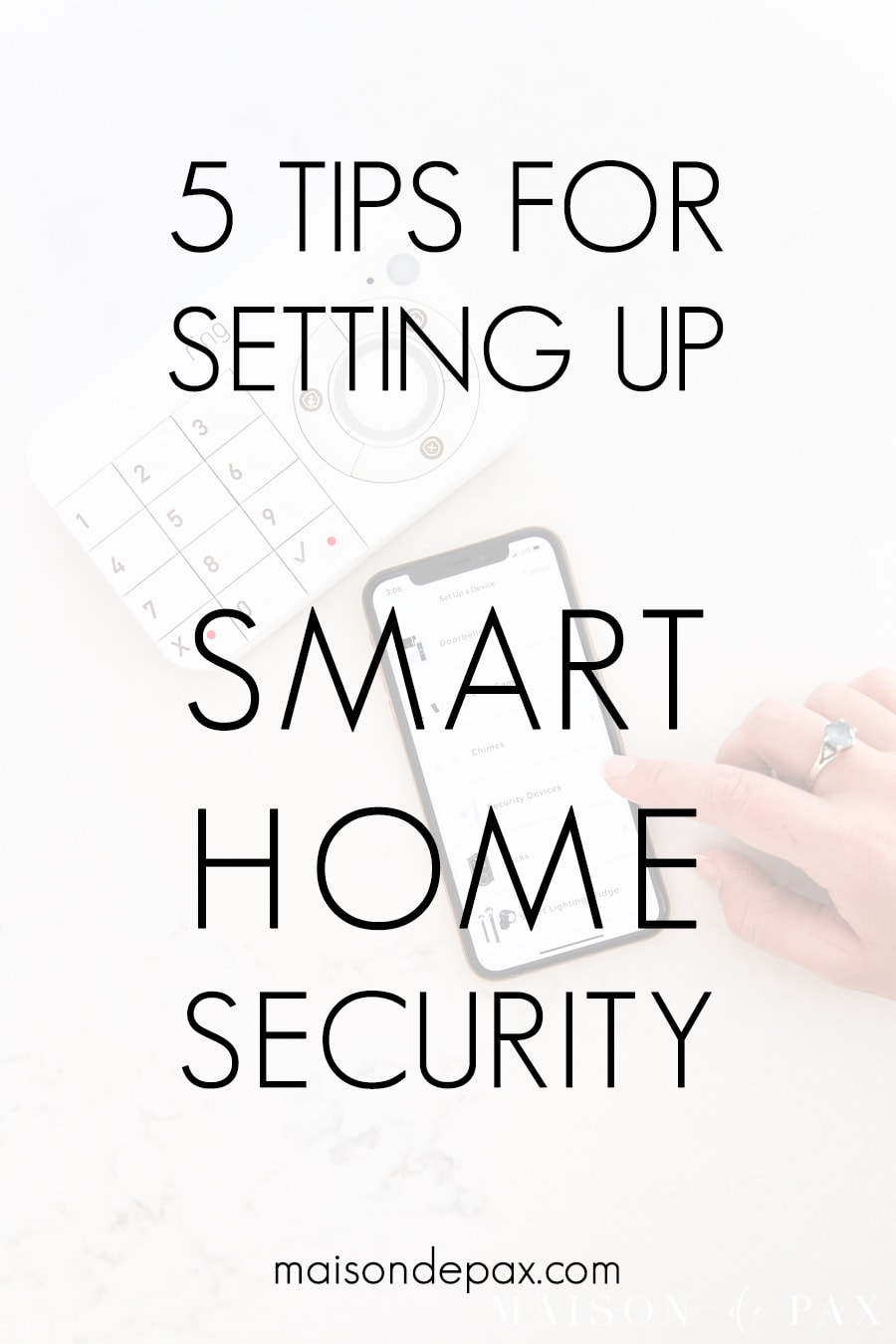 security keypad with overlay: 5 tips for setting up smart home security | Maison de Pax