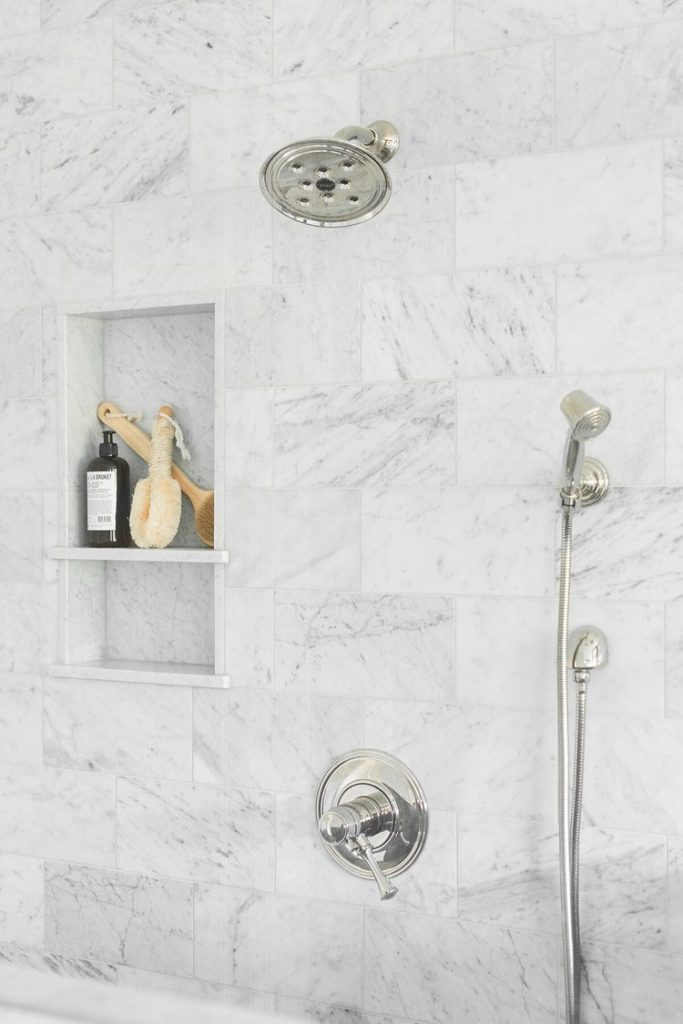 marble shower wall tile