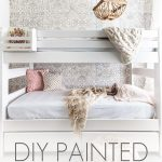 white bunk beds with overlay: diy painted bunk beds | Maison de Pax
