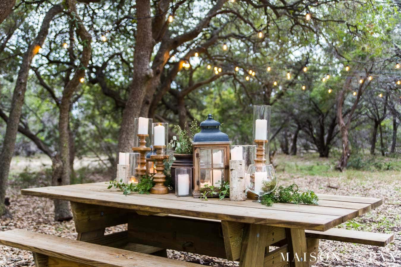 Rustic Outdoor Dining Space Reveal Maison De Pax