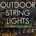 how to hang outdoor string lights | Maison de Pax