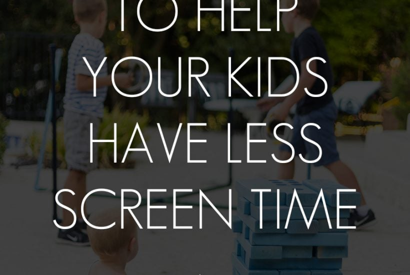 kids playing outside with overlay: 50+ ideas to hep your kids have less screen time | Maison de Pax