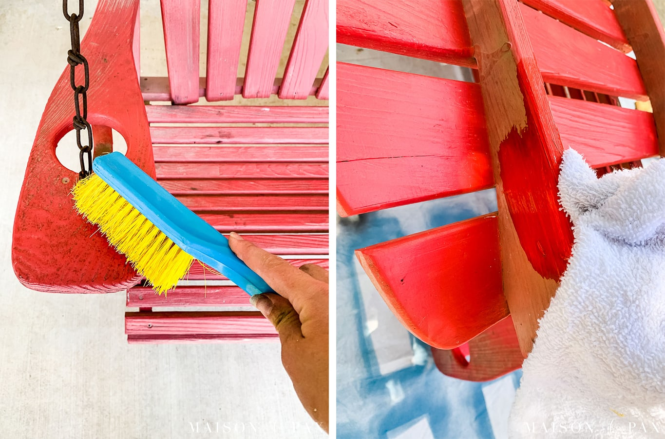 cleaning furniture before spray painting | Maison de Pax