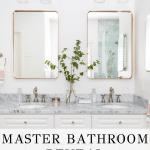 beautiful bathroom vanity with overlay: master bathroom reveal | Maison de Pax