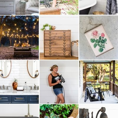 collage of modern farmhouse DIY projects | Maison de Pax