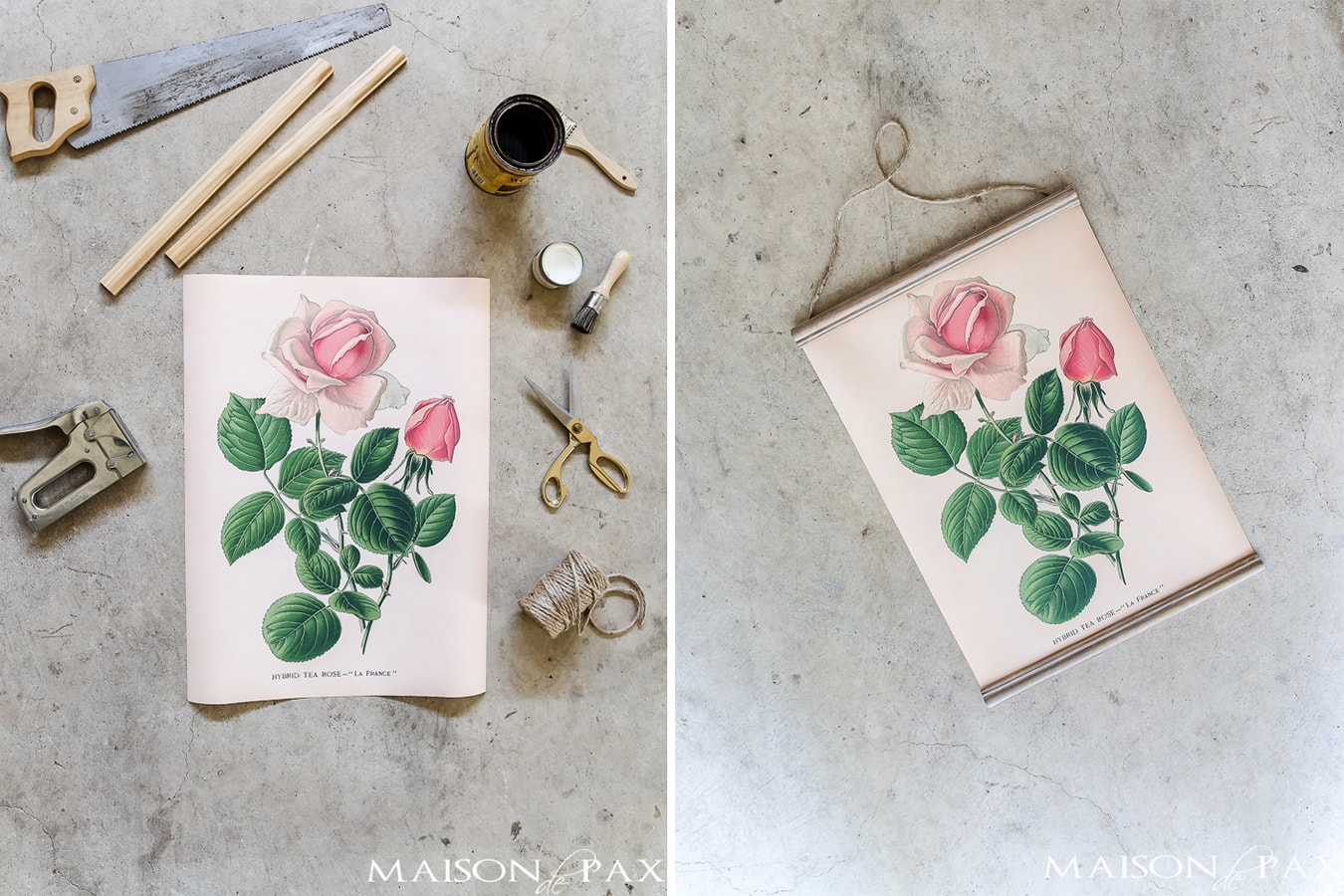 botanical printable DIY wall hanging | Maison de Pax